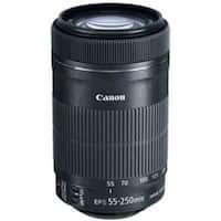 Canon - 55 mm to 250 mm - f/4 - 5.6 - Telephoto Zoom Lens for (Refurbished)