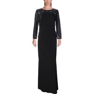 Jessica Howard Womens 3/4 Sleeves Full-Length Evening Dress