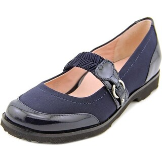Taryn Rose Jannye Women Round Toe Canvas Blue Mary Janes