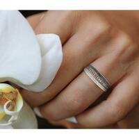 Prism Jewel 0.76ct Round Brilliant Cut Multi Color Diamond Half Eternity Ring