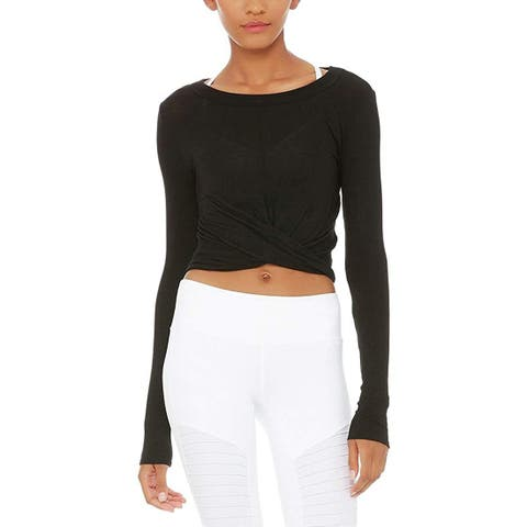 ALO Women's Cover Long Sleeve Top Black X-Small