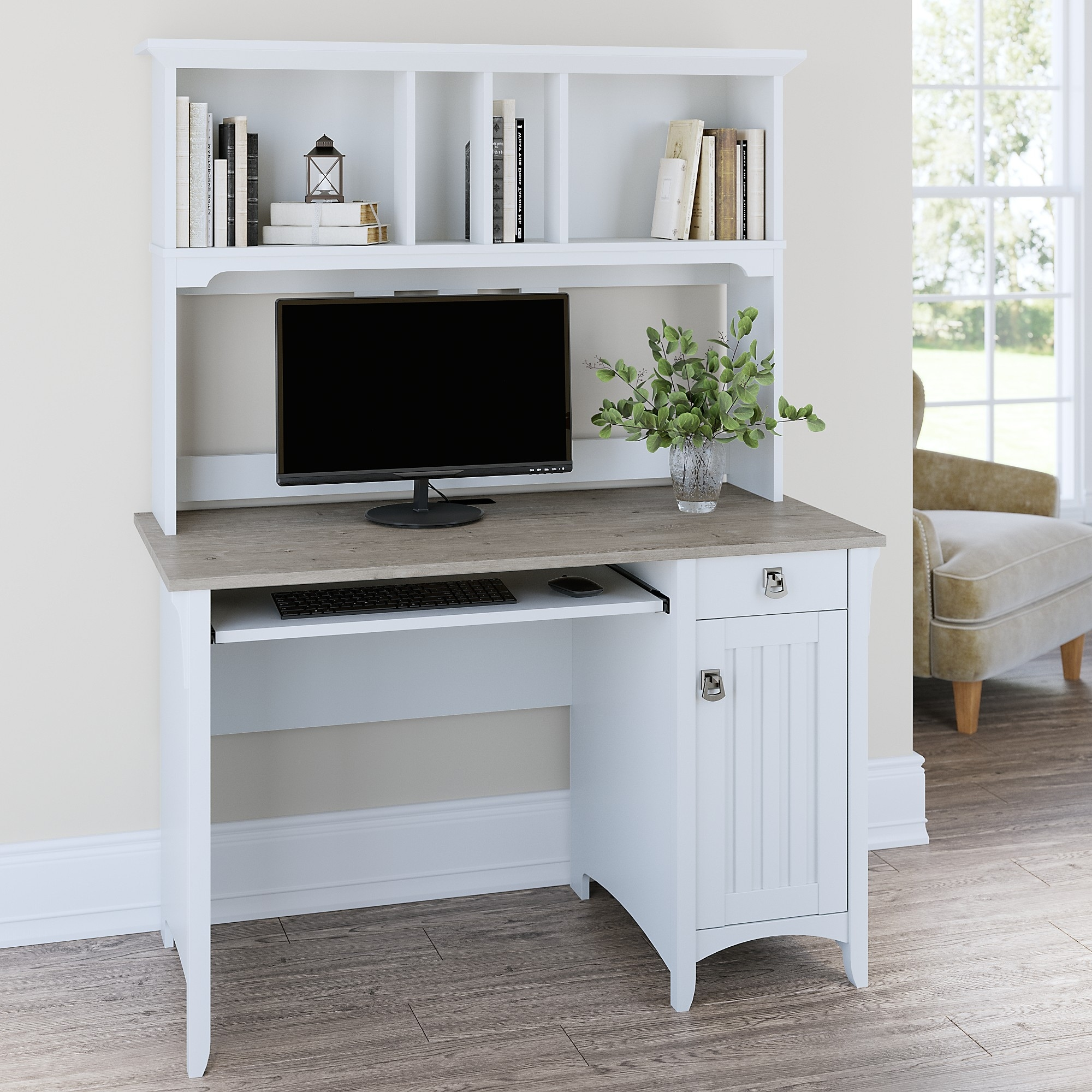 The Gray Barn Lowbridge Mission Style Desk With Hutch Overstock 20132370