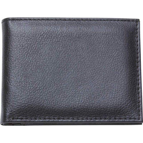 Embassy Men's Solid Genuine Buffalo Leather Bi-Fold Wallet