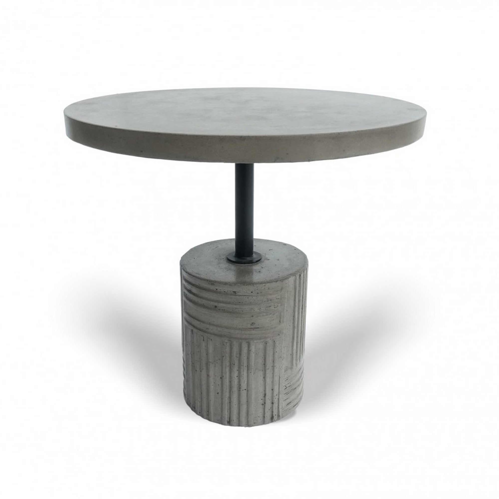 Picture of: Contemporary Concrete End Table With Round Top And Cylindrical Base Gray On Sale Overstock 31823570