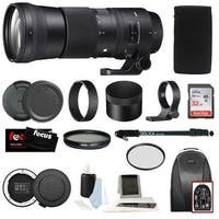 Sigma 150-600mm f/5-6.3 DG OS HSM Contemporary Lens for Canon Accessory Bundle