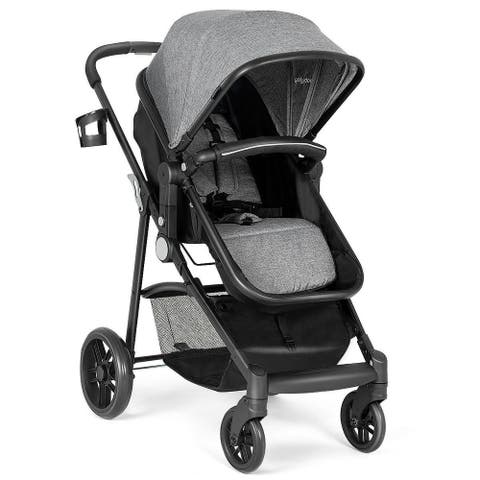 Costway 2 In1 Foldable Baby Stroller Kids Travel Newborn Infant Buggy Pushchair Gray