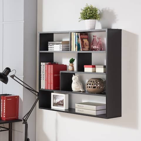 Large Rectangular Black Shelf Unit