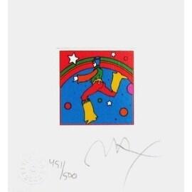 """Cosmic Jumper Detail III, Ltd Ed (Mini 4.875"""" x 4.5""""), Peter Max"""