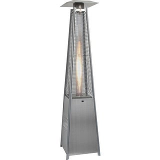 Hanover Outdoor HAN102SS 7-Ft. 42,000 BTU Pyramid Propane Patio Heater in Stainless Steel - STAINLESS STEEL