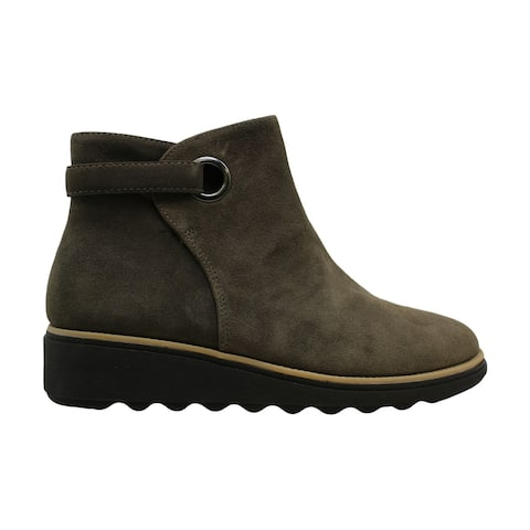Clarks Womens Sharon Spring Leather Closed Toe Ankle Fashion Boots