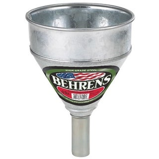 Behrens 50 Galvanized Steel Funnel with Screen, 1 Pint