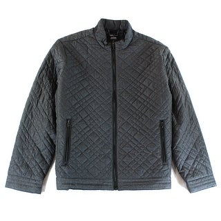 Alfani NEW Gray Mens Size XL Full Zip Lightweight Quilted Jacket