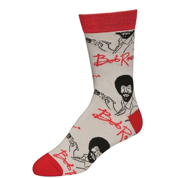 Men's Bob Ross Socks - Iconic Host of The Joy of Painting - Its Bob Ross - One Size