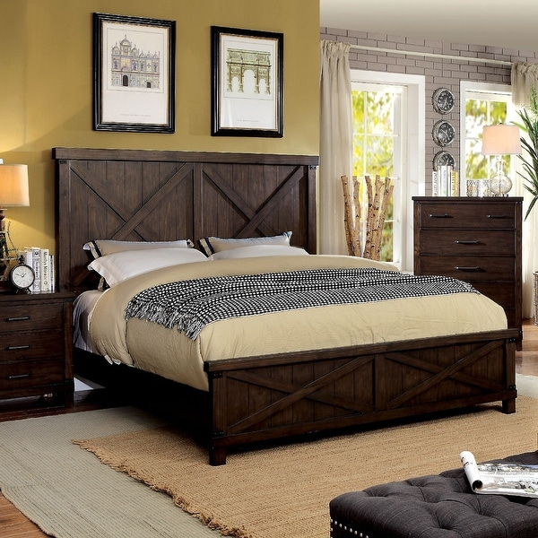 The Gray Barn Epona Farmhouse Dark Walnut Bed. Opens flyout.