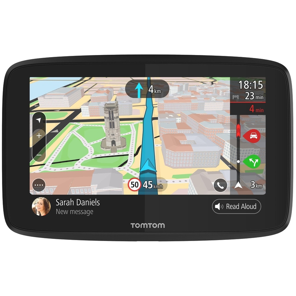 TomTom Go 620 6 Inch GPS Navigator w/ Lifetime Map and Traffic Updates - Black (Black)