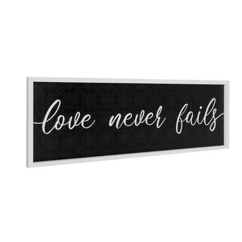 "American Art Decor Framed ""Love Never Fails"" Kitchen Decor Art Print"
