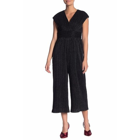 Maggy London Black Women's Size 8 Shimmer Wide-Leg Jumpsuit