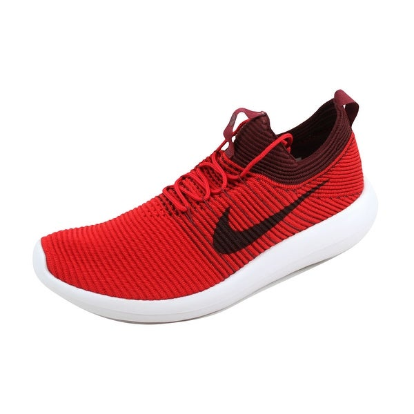 Nike Men's Roshe Two 2 Flyknit V2 University Red/Dark Team Red 918263-600