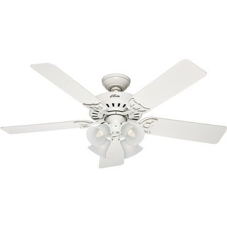 "Hunter Fan 53062/20181 Studio Series Ceiling Fan, 52"", White"