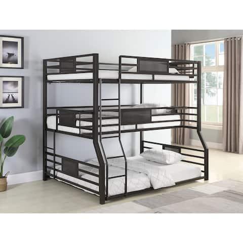 Alisso Dark Bronze Triple Full/Twin XL/Queen Bunk Bed
