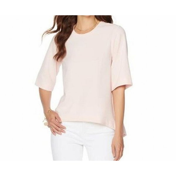 21b36380b Shop Melissa McCarthy Seven7 NEW Pink Womens Size Large L Hi-Low Blouse -  Free Shipping On Orders Over $45 - Overstock - 19219774