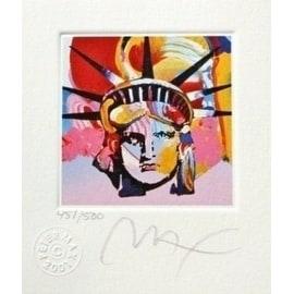"Liberty Head VI, Ltd Ed Lithograph (Mini 3.5"" x 3""), Peter Max"