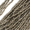 Czech Tri-Cut Seed Beads 10/0 'Terra Metallic Steel' (1 Strand/360 Beads) - Thumbnail 0