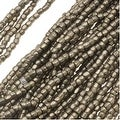 Thumbnail 1, Czech Tri-Cut Seed Beads 10/0 'Terra Metallic Steel' (1 Strand/360 Beads).