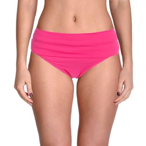 La Blanca Womens Shirred Beachwear Swim Bottom Separates