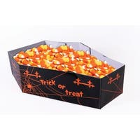 Halloween Coffin Candy Bowl - Black