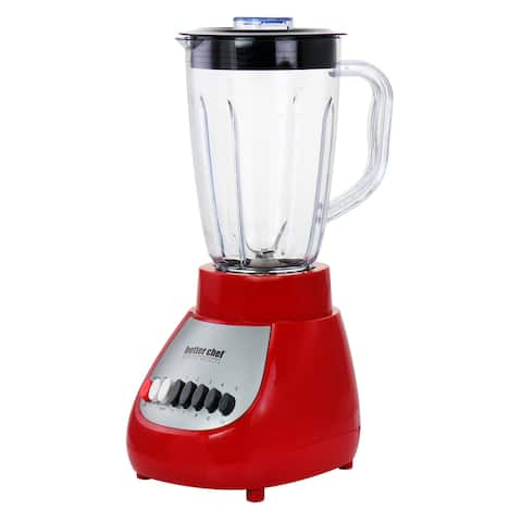 Better Chef 10 Speed 350 Watt Plastic Jar Blender in Red - 50 oz