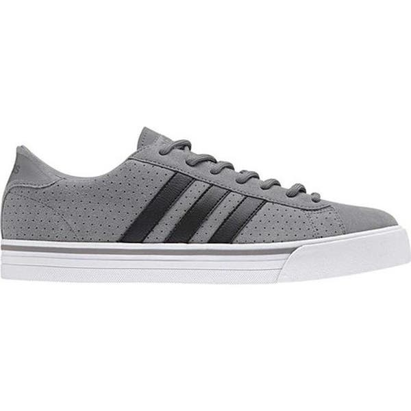 new product 9a641 eb4c4 Shop adidas Men s NEO Cloudfoam Super Daily Leather Sneaker Grey ...