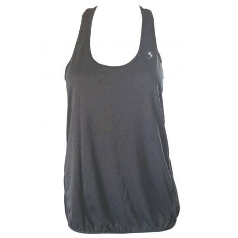 Loose Fit Activewear Tank Top - Solid Grey