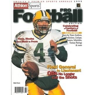8a36b17b Brett Favre unsigned Green Bay Packers Athlon Sports 1999 NFL Pro Football  Preview Magazine
