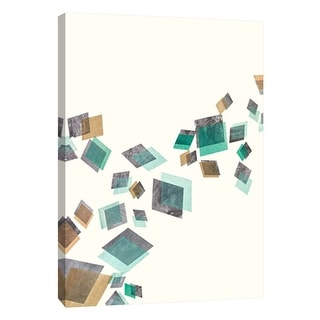 "PTM Images 9-105703  PTM Canvas Collection 10"" x 8"" - ""Movement in Aqua 1"" Giclee Abstract Art Print on Canvas"