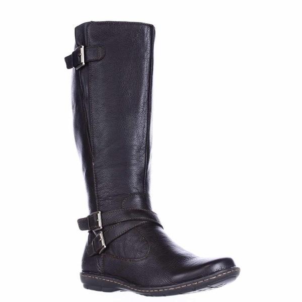 B.O.C. Born Concept Barbana Wide Calf Riding Boots, Dark Brown
