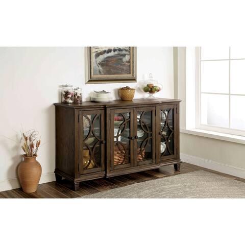 Furniture of America Haylette Rustic Brown 63-inch Solid Wood Server