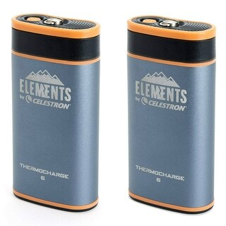 Celestron 48023 Elements ThermoCharge 6 w/ Hand Warmer & Power Bank (2-Pack)