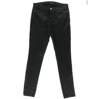 J Brand Womens Coated Mid-Rise Skinny Jeans - 27