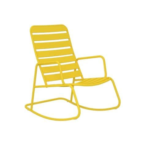 Novogratz Poolside Collection Roberta Outdoor Rocking Chair