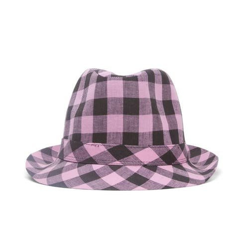 Plaid Trilby Fedora Hat