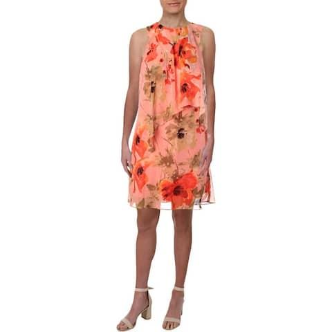 Lauren Ralph Lauren Womens Petites Sundress Floral Print Ruffled