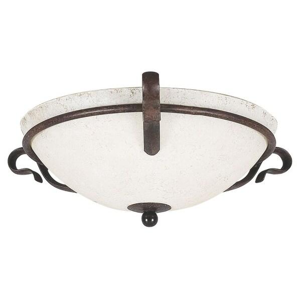 """Sunset Lighting F5485 Venice 2 Light 200 Watt 16"""" Wide Flush Mount Ceiling Fixture - Rubbed bronze"""