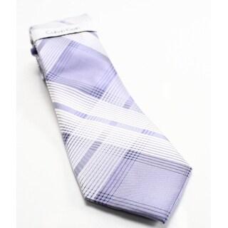 Tommy Hilfiger NEW Purple Men's One Size Luxe Grid II Silk Neck Tie