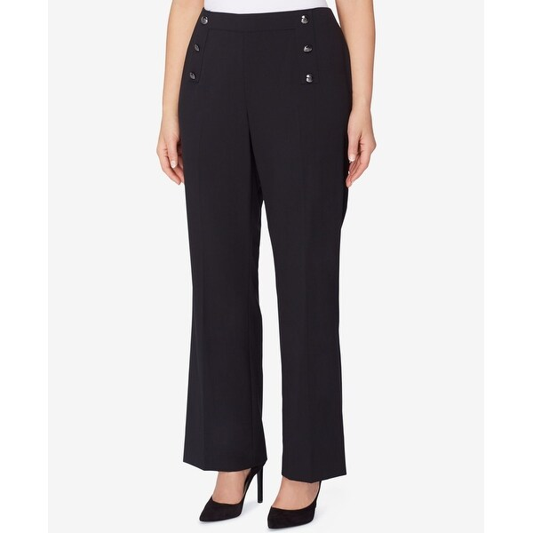 a6ad012b7be Shop Tahari by ASL NEW Black Womens Size 20W Plus Sailor Dress Pants  Stretch - Free Shipping Today - Overstock.com - 20959707