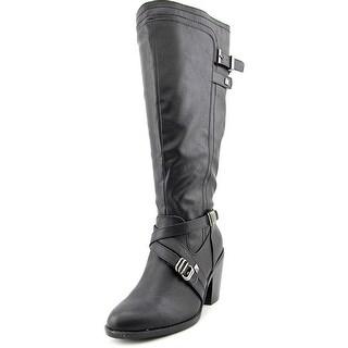 Rialto Madyson Wide Calf Women Round Toe Synthetic Black Knee High Boot