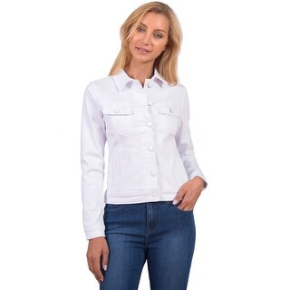 Lola Jeans Gabriella-WHT, The Classic Denim Jacket (More options available)
