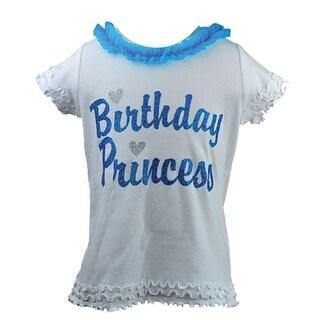 "Reflectionz Baby Girls Turquoise ""Birthday Princess"" Ruffle T-Shirt 12-18M"