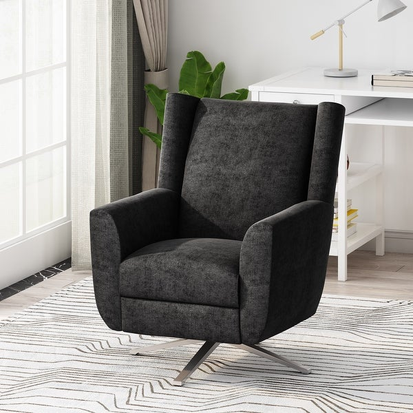 "Woodmere Fabric Swivel Chair by Christopher Knight Home - 29.50"" W x 34.75"" D x 39.00"" H. Opens flyout."
