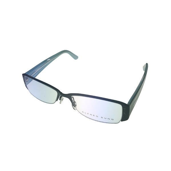 Alfred Sung Womens Opthalmic Eyeglass Modified Rectangle 471 2 Black - Medium